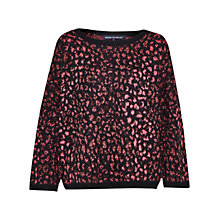 Buy French Connection Electric Leopard Jumper, Ziggy Pink Multi Online at johnlewis.com