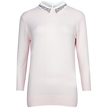 Buy Ted Baker Aleshia Embellished Collar Jumper Online at johnlewis.com
