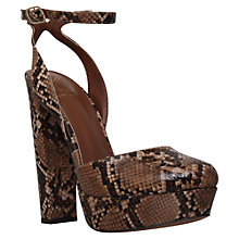 Buy KG by Kurt Geiger Dixie Block Heeled Platform Court Shoes Online at johnlewis.com