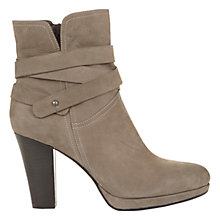 Buy Mint Velvet Sasha Crossover Strap Detail Ankle Boots, Taupe Nubuck Online at johnlewis.com