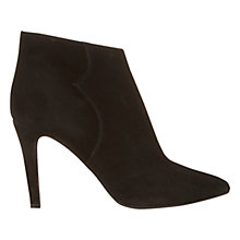 Buy Mint Velvet Kayleigh Frame Design Stiletto Ankle Boots, Black Suede Online at johnlewis.com