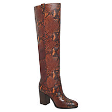 Buy Carvela Wallace Over Knee Boots, Brown Online at johnlewis.com