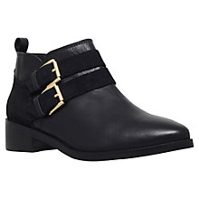Buy KG by Kurt Geiger Salvador Leather Suede Mix Ankle Boots, Black Online at johnlewis.com
