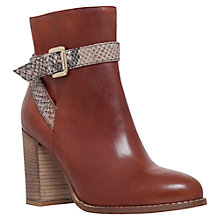 Buy Carvela Slip Tan Mid Heel Ankle Boots, Tan Leather Online at johnlewis.com