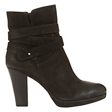 Buy Mint Velvet Sasha Cross Over Strap Ankle Boots, Black Online at johnlewis.com