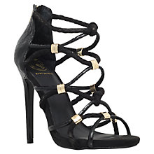 Buy KG by Kurt Geiger Idol Woven High Heel Sandals, Black Online at johnlewis.com