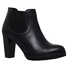 Buy Carvela Skittle Mid Heel Chelsea Boots, Black Leather Online at johnlewis.com