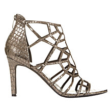 Buy Mint Velvet Georgie Cage Cut Away Sandals, Pewter Metallic Online at johnlewis.com