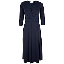 Buy Closet V-Neck Wrap Midi Dress, Navy Online at johnlewis.com