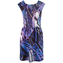 Buy Closet Scuba V-Back Dress, Purple Online at johnlewis.com