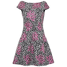 Buy French Connection Lurex Leopard Dress, Black Multi Online at johnlewis.com