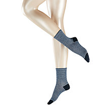 Buy Falke Even Stripe Ankle Socks, Marine Online at johnlewis.com