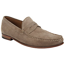 Buy John Lewis Lloyd Suede Penny Loafers, Almond Online at johnlewis.com