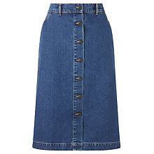 Buy Collection WEEKEND by John Lewis A-Line Denim Skirt, Mid Wash Indigo Online at johnlewis.com