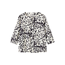 Buy Toast Inked Floral Top, Black/Bone Online at johnlewis.com