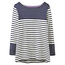 Buy Joules Harbour Colour Block Stripe Jersey Top, Soft Navy Stripe Online at johnlewis.com