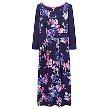 Buy Joules Melissa Floral Print Jersey Dress, Soft Navy Petal Online at johnlewis.com