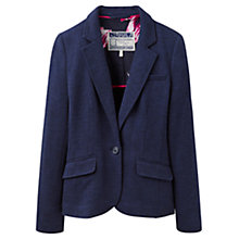 Buy Joules Olivia Herringbone Jersey Blazer, Navy Online at johnlewis.com