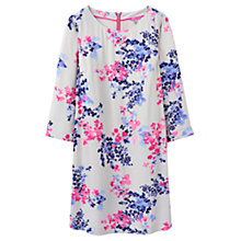 Buy Joules Maya Floral Print Tunic Dress, Silver Petal Online at johnlewis.com