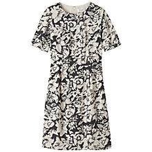Buy Toast Inked Floral Dress, Black/Bone Online at johnlewis.com