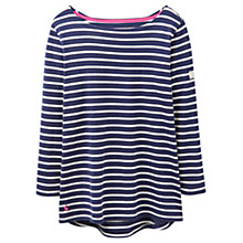 Buy Joules Harbour Stripe Jersey Top, Hope Stripe French Navy Online at johnlewis.com