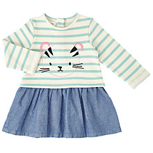 Buy John Lewis Baby Tiger Stripe Sweat Dress, Cream Online at johnlewis.com