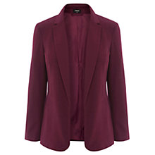 Buy Oasis Clean Ponte Jacket, Berry Online at johnlewis.com