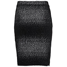 Buy French Connection Tia Textured Pencil Skirt, Black/White Online at johnlewis.com
