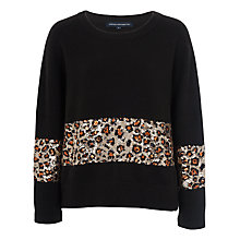 Buy French Connection Leopard Sequin Jumper, Black Multi Online at johnlewis.com