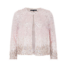 Buy French Connection Sunbeamer Sequin Jacket, Carpi Blush Online at johnlewis.com