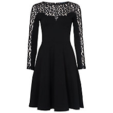 Buy French Connection Animal Lace Jersey Dress, Black Online at johnlewis.com