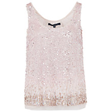 Buy French Connection Sunbeamer Vest Top, Capri Blush Online at johnlewis.com