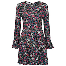 Buy French Connection Midnight Rose Flared Dress, Black/Multi Online at johnlewis.com