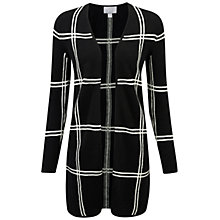 Buy Pure Collection Pakenham Gassato Cardigan, Black Check Online at johnlewis.com