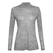 Buy French Connection Jimmy Luxe High Neck Top, Grey Online at johnlewis.com