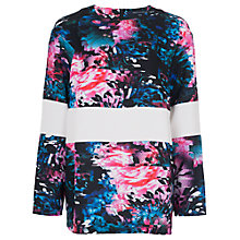 Buy French Connection After Party Crepe Top, Black Multi Online at johnlewis.com