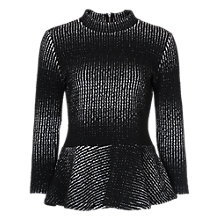 Buy French Connection Tia Textured Top, Black/White Online at johnlewis.com