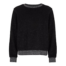 Buy French Connection Sparkle Nights Sweatshirt, Black Online at johnlewis.com