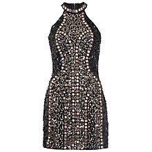 Buy French Connection Disco Mirror Halterneck Mini Dress, Black Online at johnlewis.com