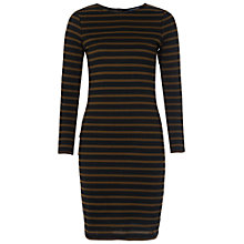 Buy French Connection Stripe Dress, Black/Turtle Online at johnlewis.com