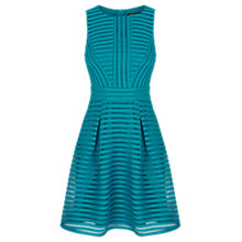 Buy Warehouse Formed Linear Prom Dress, Teal Online at johnlewis.com