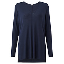 Buy Jigsaw Wool Jersey Tunic, Navy Online at johnlewis.com