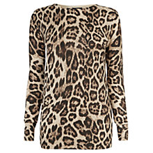 Buy Warehouse Leopard Print Jumper, Multi Online at johnlewis.com