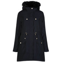 Buy Ted Baker Edmona Quilted Parka Jacket, Navy Online at johnlewis.com