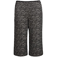 Buy Ted Baker Kimora Tweed Wide Leg Culottes, Black Online at johnlewis.com