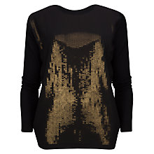 Buy Ted Baker Loopey Sequin Jumper, Black Online at johnlewis.com
