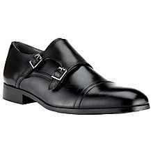 Buy Kin by John Lewis Nick Double Buckle Monk Shoes, Black Online at johnlewis.com