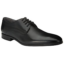 Buy Kin by John Lewis Alex Leather Lace-Up Derby Shoes, Black Online at johnlewis.com