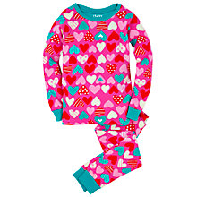 Buy Hatley Girls' Crazy Hearts Pyjamas, Pink Online at johnlewis.com