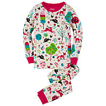 Buy Hatley Girls' Mystical Forest Print Pyjamas, Pink Online at johnlewis.com